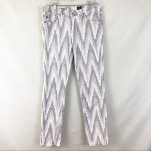 AG The Stilt White Gray Skinny Jeans Size 30